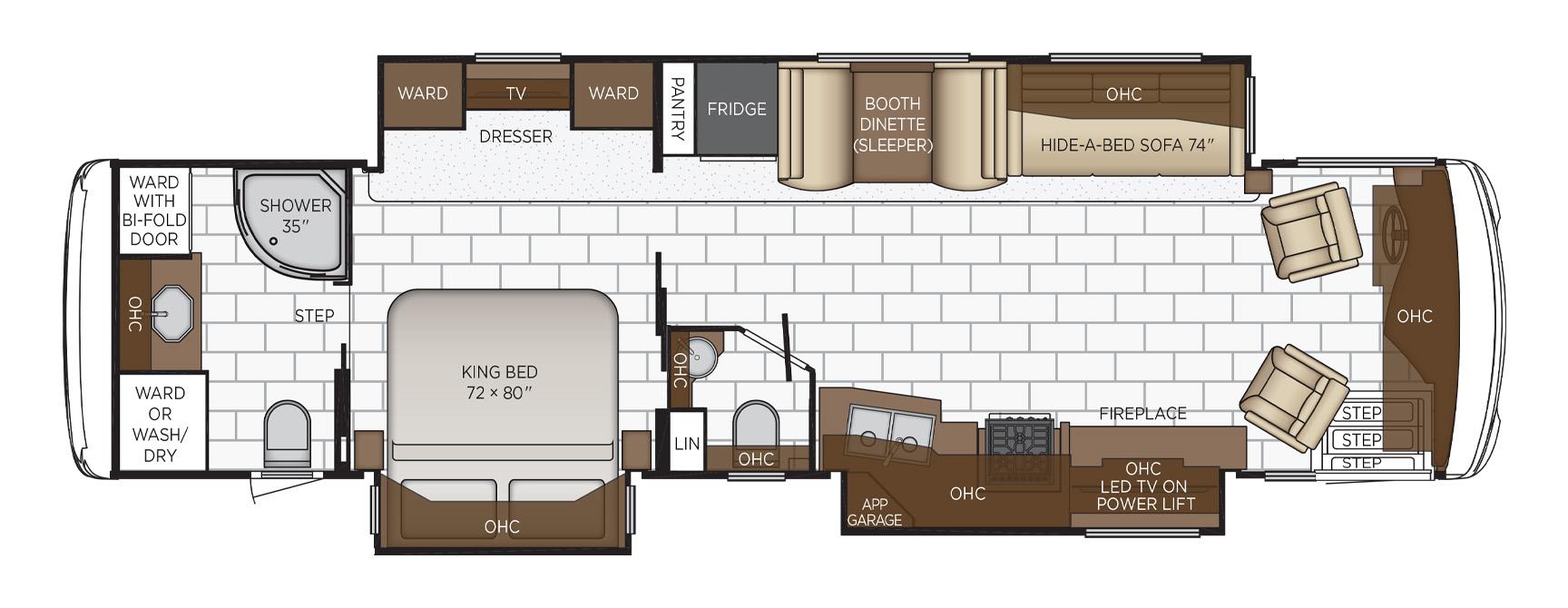 2022 Ventana Floor Plan Options Newmar